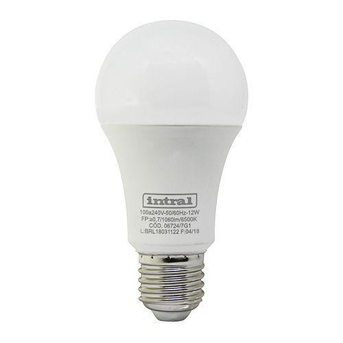 Lâmpada Led Bulbo 12w Luz Branca Fria Intral