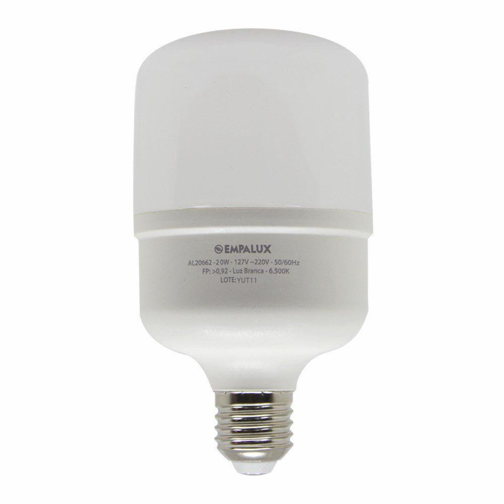 Lâmpada Led Bulbo 20w Luz Branca Fria Empalux
