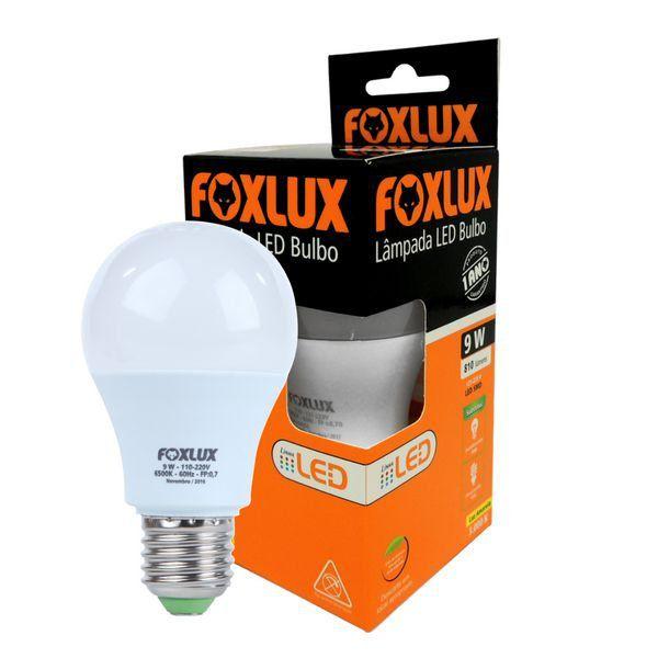Lâmpada Led Bulbo 9w Luz Branca Fria Foxlux