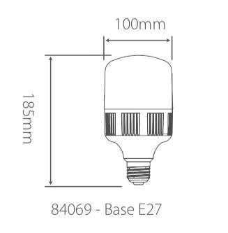 Lâmpada Led Bulbo-T 30W Bivolt 6500k 2670lm Branca Fria Alumbra