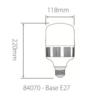 Lâmpada Led Bulbo-T 40W Bivolt 6500k 3600lm Branca Fria Alumbra