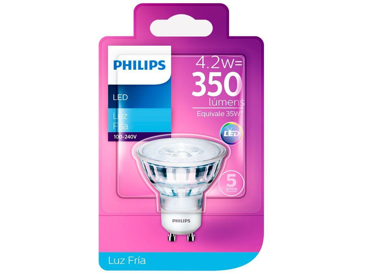 Lâmpada Led Dicroica Gu10 4.2w 350lm Luz Fria Philips
