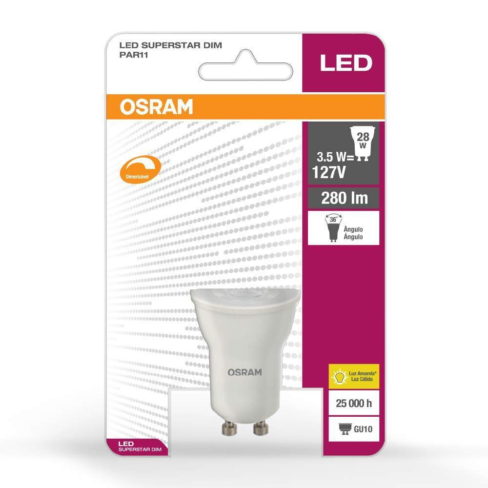Lâmpada Led Dicróica PAR11 3.5w Morna Osram