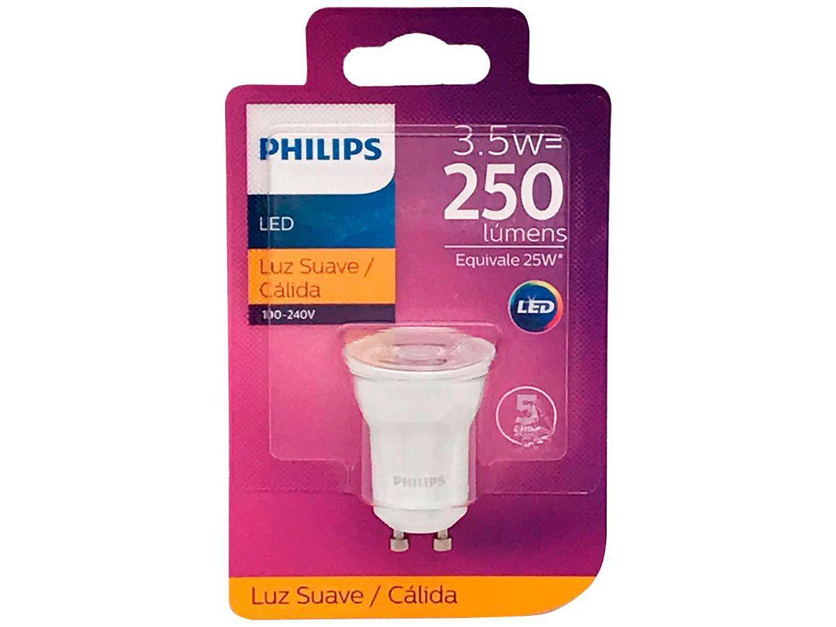 Lâmpada Led GU10 Mini Dicróica 3.5w Luz Quente Philips