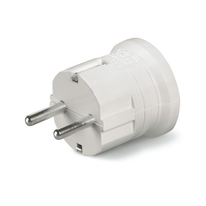 Plug Schuko Macho Plástico 2p+t 16a 250v Branco Scame