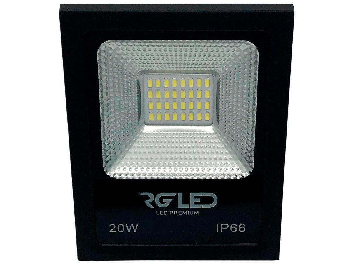 Refletor Led Holofote 20w 6500K Luz Branca RG Led Premium