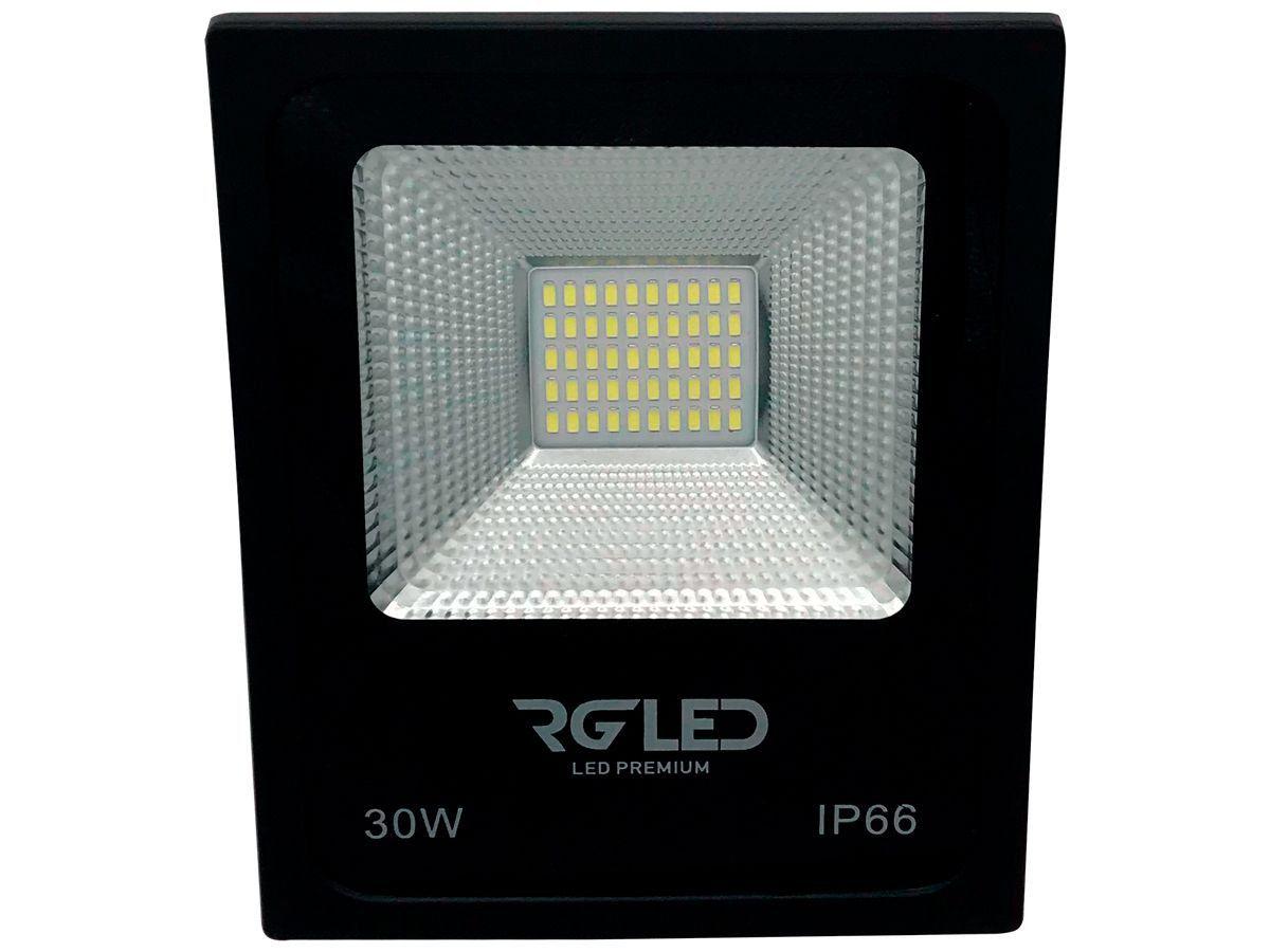 Refletor Led Holofote 30w 6500K Luz Branca RG Led Premium