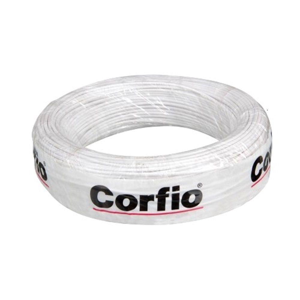 Rolo de Cabo Flexível 10.00mm Branco Corfio