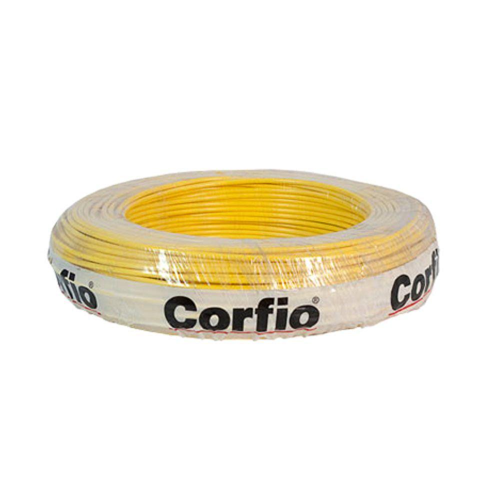 Rolo de Cabo Flexível 4.00mm Amarelo Corfio