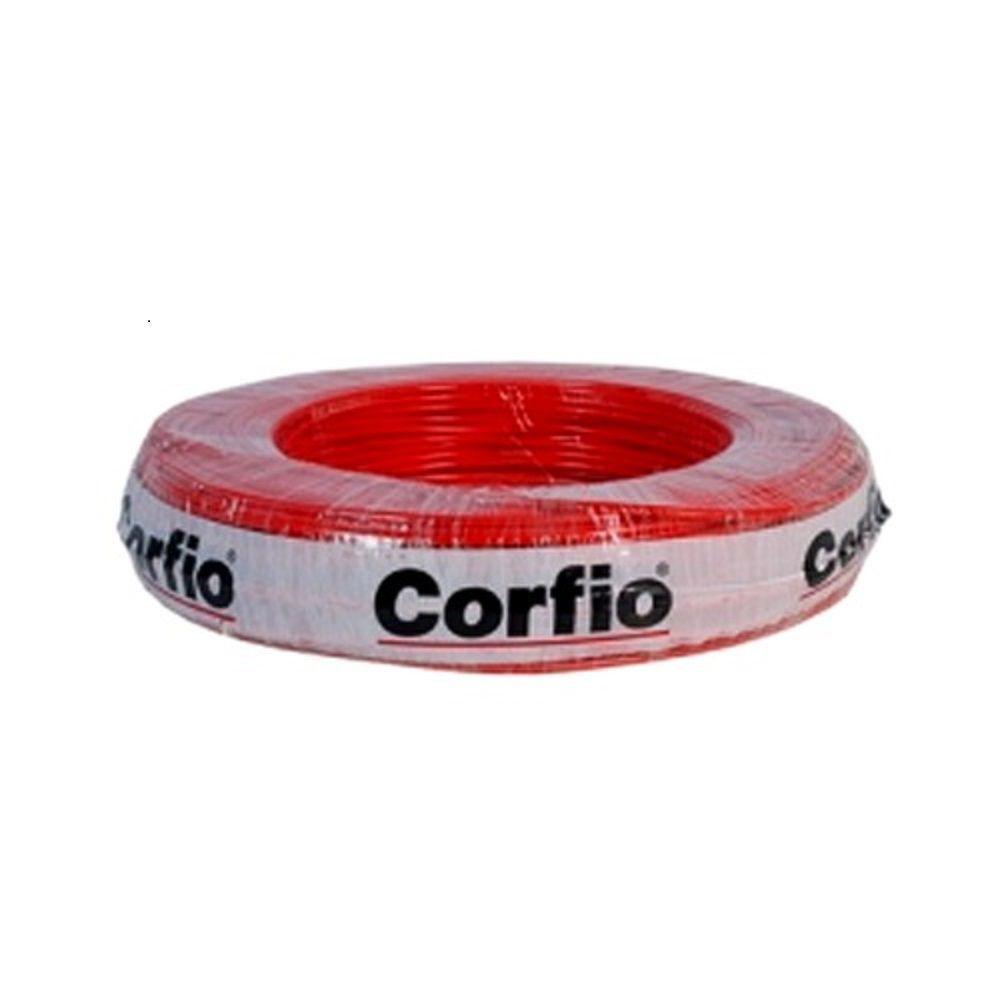 Rolo de Cabo Flexível 4.00mm Vermelho Corfio