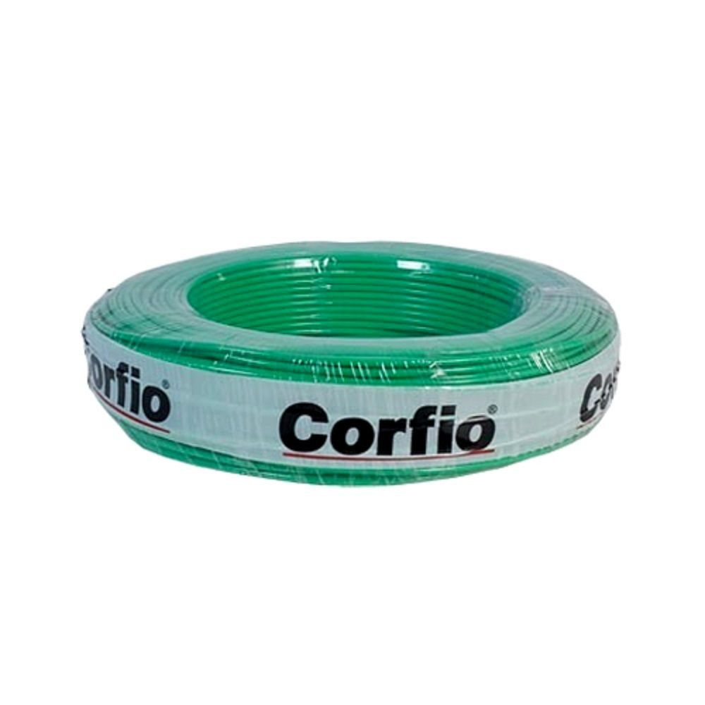Rolo de Cabo Flexível 6.00mm Verde Corfio
