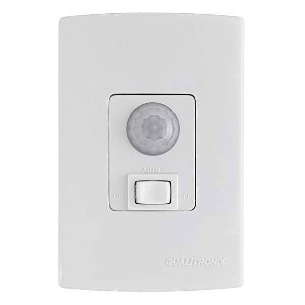 Sensor de Presença de Embutir Com Interruptor Qi06 Qualitronix