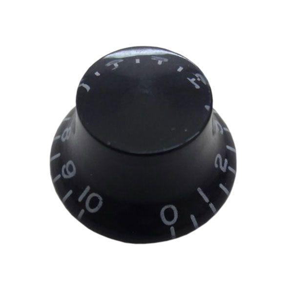 Knob Plastico Speed Bell Tradicional Preto