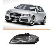 Farol Audi A4 2009 2010 2011 2012 Com Led Para Xenon Le