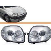 Farol Clio 2000 2001 2002 Foco Duplo Par