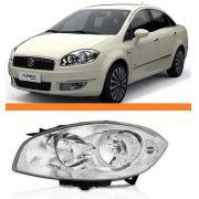 Farol Fiat Linea Ano 2008 2009 2010 2011 2012 Esquerdo