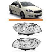 Farol Fiat Linea Ano 2008 2009 2010 2011 2012 Par Novo