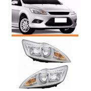 Farol Ford Focus 2009 2010 2011 2012 2013 Cromado Par