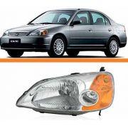 Farol Honda Civic 01 02 03 Foco Simples Pisca Ambar Esquerdo