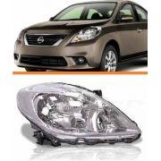 Farol Nissan Versa 2011 2012 2013 2014 Cromado Direito