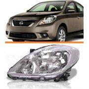 Farol Nissan Versa 2011 2012 2013 2014 Cromado Esquerdo