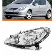 Farol Peugeot 307 2001 2002 2003 2004 2005 06 Esquerdo C/aux