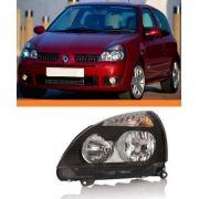 Farol Renault Clio 2003 2004 2005 06 Máscara Negra Esquerdo