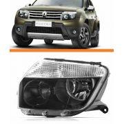 Farol Renault  Duster 2012 2013 Mascara Negra Esquerdo  Novo