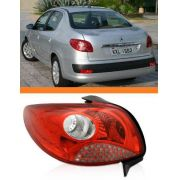 Lanterna Peugeot 207 2008 A 2013 Tela Vermelha Esquerda