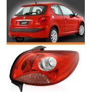 Lanterna Peugeot 207 2008 A 2013 Vermelha Lado Direito