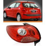 Lanterna Peugeot 207 2008 A 2013 Vermelha Lado Esquerdo
