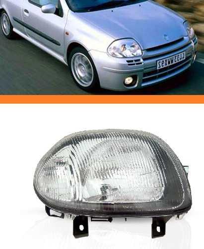 Farol Clio 2000 2001 2002 Foco Simples Lado Direito  - Kaçula Auto Peças