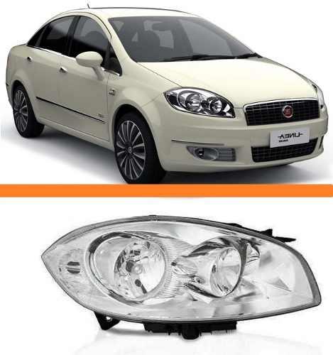 Farol Fiat Linea Ano 2008 2009 2010 2011 2012 Direito  - Kaçula Auto Peças