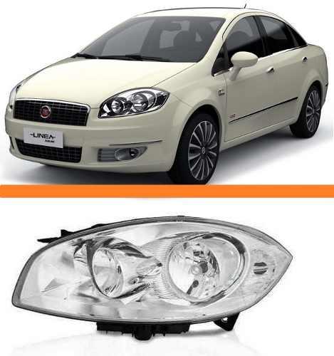 Farol Fiat Linea Ano 2008 2009 2010 2011 2012 Esquerdo  - Kaçula Auto Peças