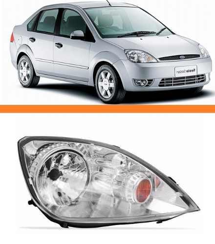 Farol Fiesta Hatch Sedan 2003 2004 2005 2006 2007 Direito  - Kaçula Auto Peças