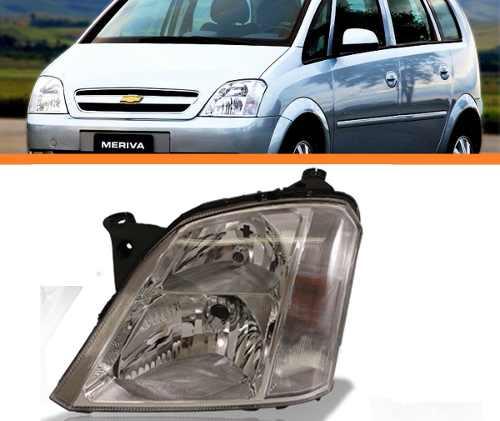 Farol Meriva 2003 04 05 06 07 08 09 10 11 12 Manual Esquerdo  - Kaçula Auto Peças