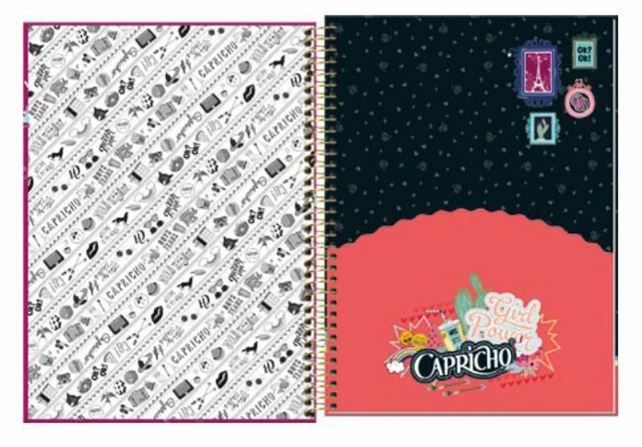 Caderno Espiral Capa Dura Universitário 16 Matérias 320 Folhas Capricho  Tilibra