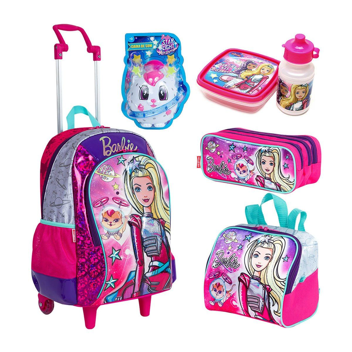 Kit Mochila Infantil - Barbie - Sestini