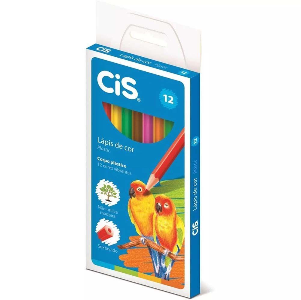 Lapis De Cor Cis Plastic 12 Cores Com 12 Cores