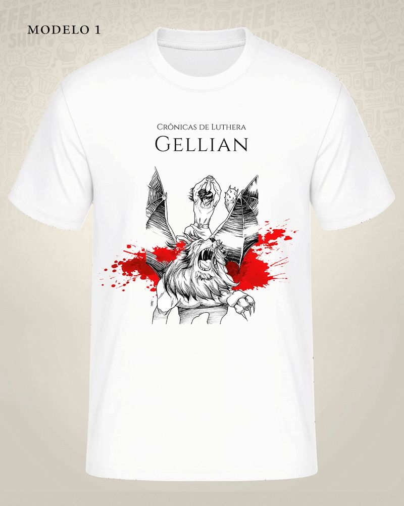 Camiseta Crônicas de Luthera - Gellian