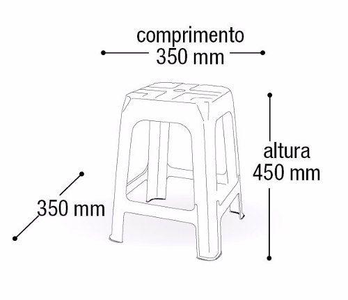 Kit 6 Bancos/banquetas Plástica Preta