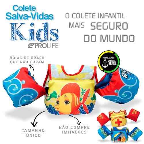 Colete Kids Homologado Resgate - Unicórnio, resgate, peixinho