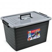 Caixa Container Organizador Multiuso 30 Litros Com Rodinha
