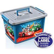 Caixa Organizadora Infantil De Brinquedos Azul 30lts