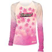 Camiseta Proteção Uv 50 + Feminina Prolife Tropical Pink