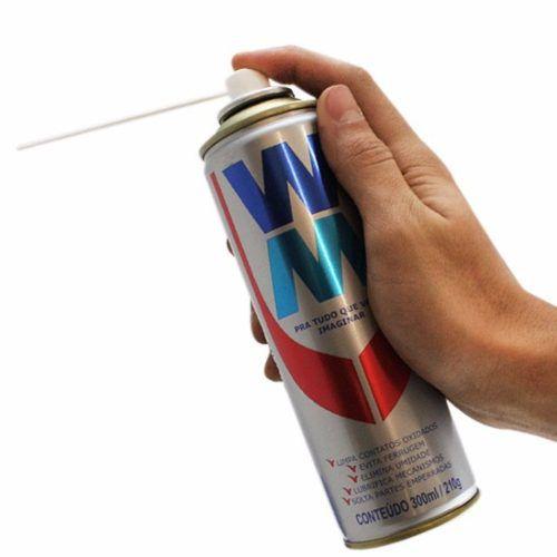 Kit 6 Lubrificante Multiuso Wm Spray Sem Óleo Desengripante