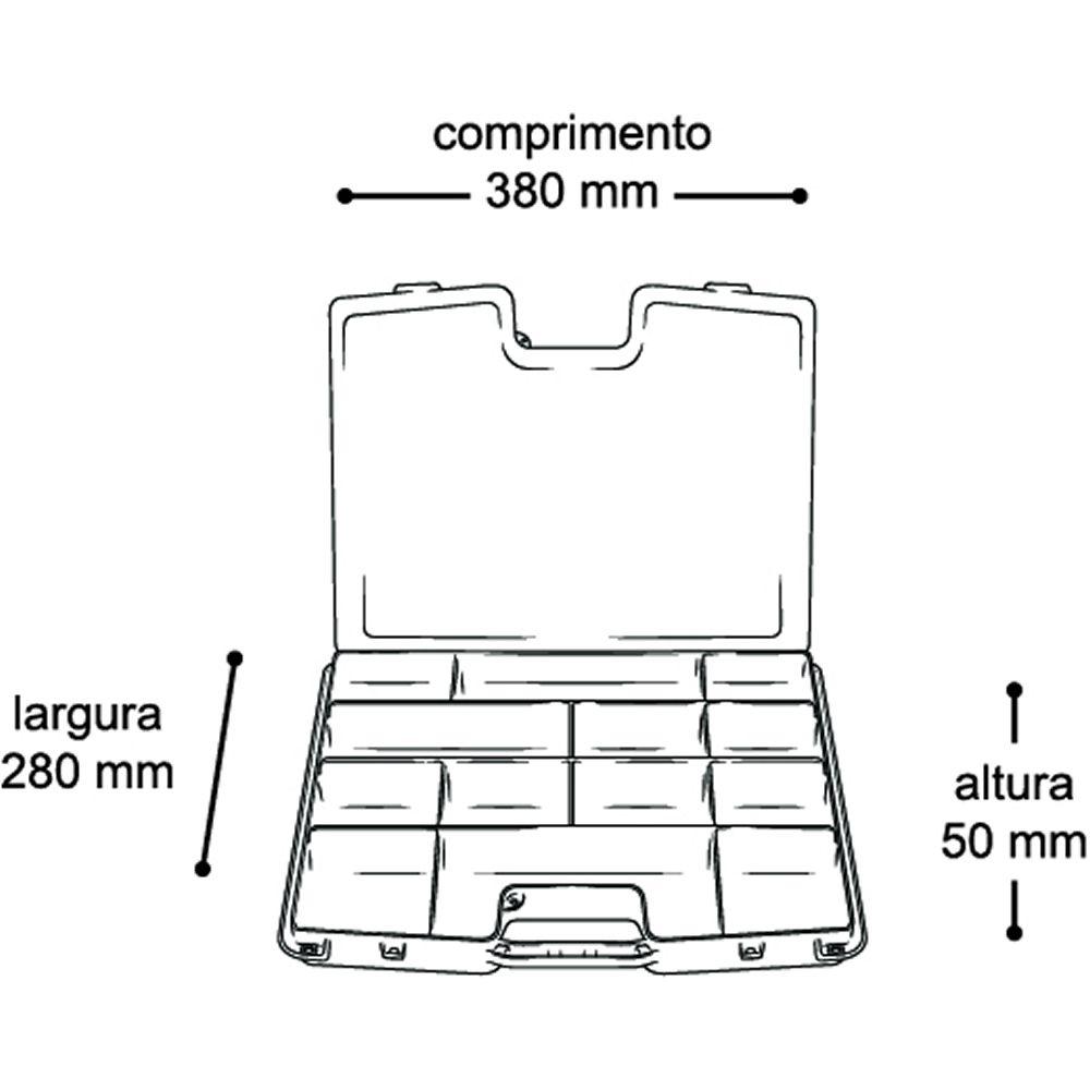2 Caixas Estojos Organizadores Multiuso 8003 12 Divisórias Parafusos 15''