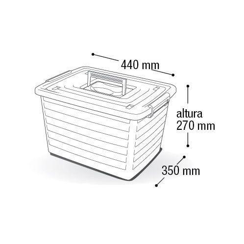 Caixa Organizadora Multiuso 30 Litros Com Rodinha