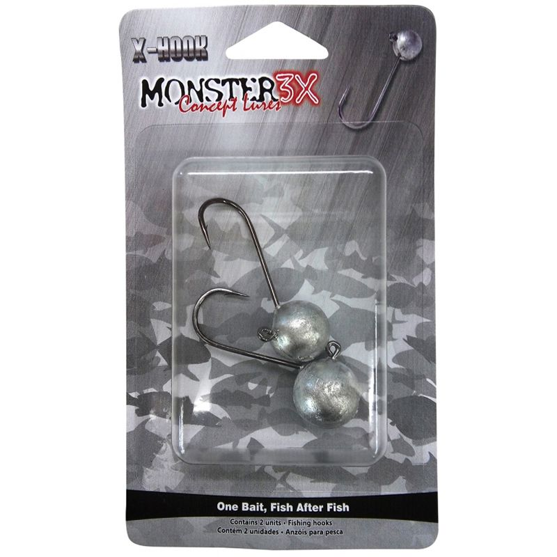Anzol Monster 3x Jig Head 4/0 20gr - C/ 2 Unidades