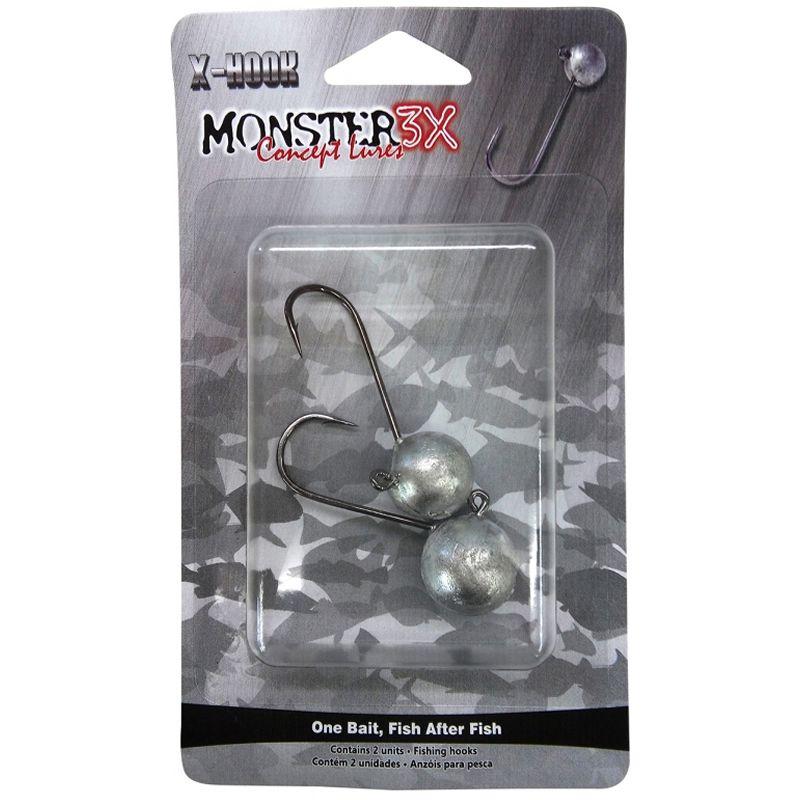 Anzol Monster 3x Jig Head 6/0 21gr - C/ 2 Unidades
